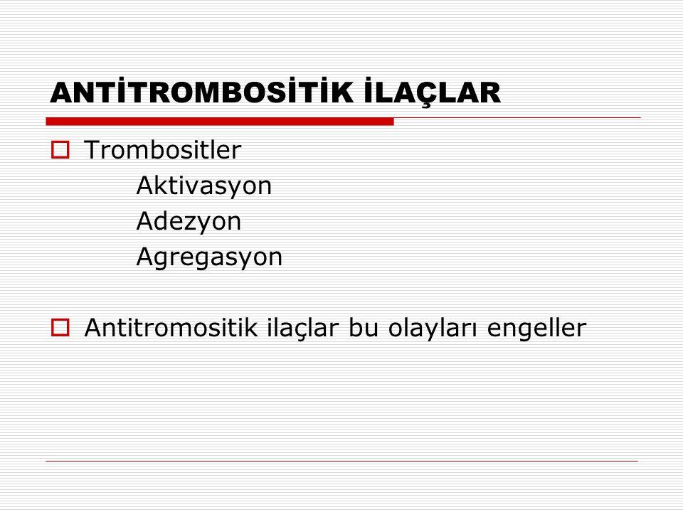 ANTİTROMBOSİTİK İLAÇLAR