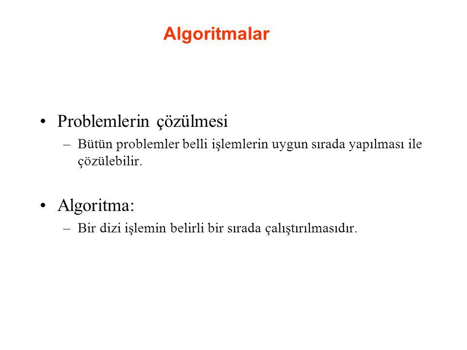 Problemlerin çözülmesi
