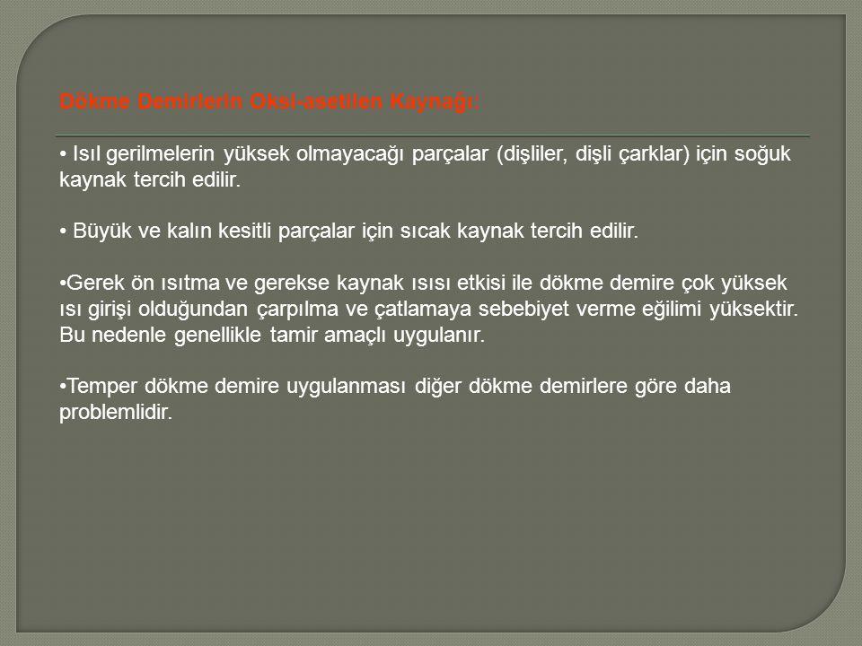 Dökme Demirlerin Oksi-asetilen Kaynağı:
