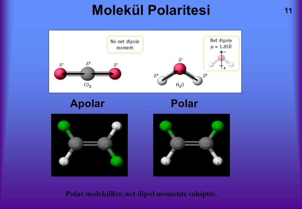 Molekül Polaritesi Apolar Polar