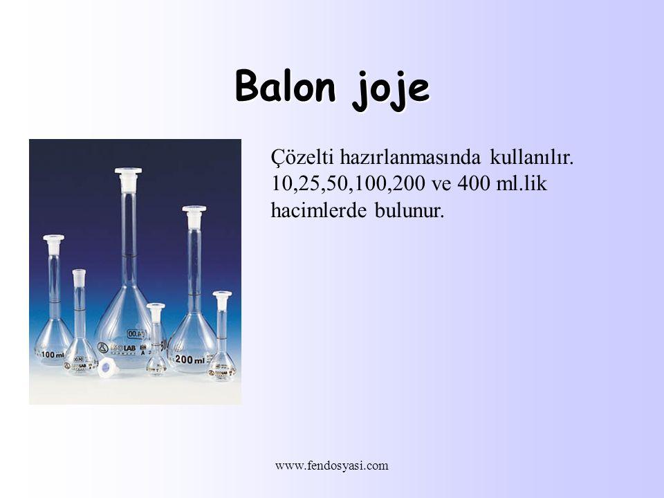 Balon joje Çözelti hazırlanmasında kullanılır.