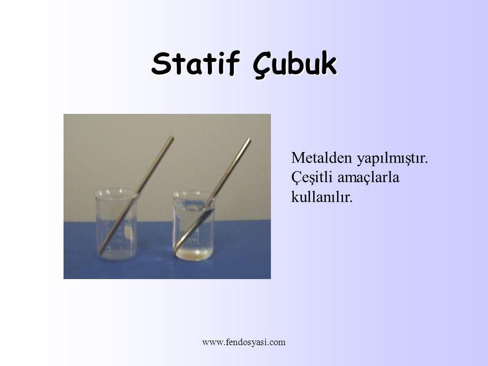 Statif Çubuk Metalden yapılmıştır. Çeşitli amaçlarla kullanılır.