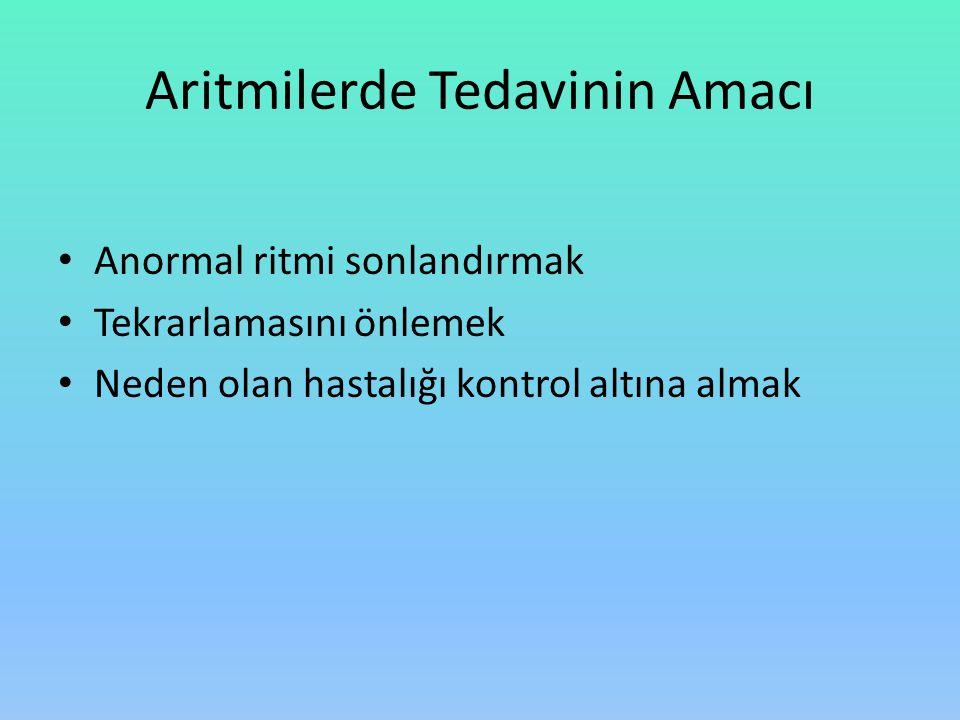 Aritmilerde Tedavinin Amacı