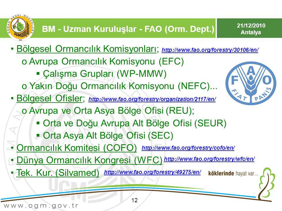 Bölgesel Ormancılık Komisyonları; Avrupa Ormancılık Komisyonu (EFC)