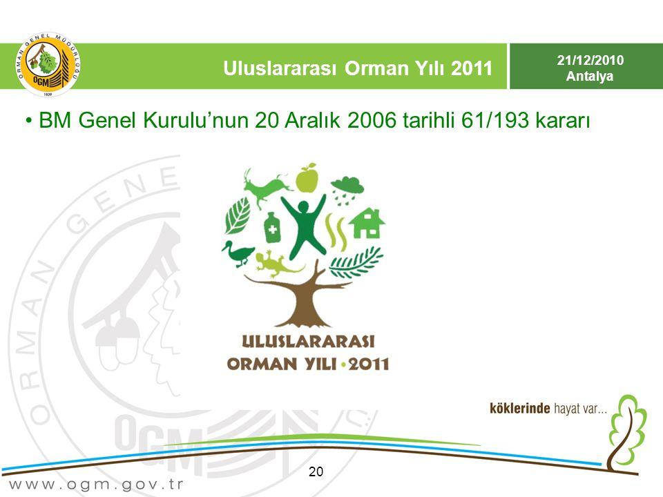 BM Genel Kurulu'nun 20 Aralık 2006 tarihli 61/193 kararı