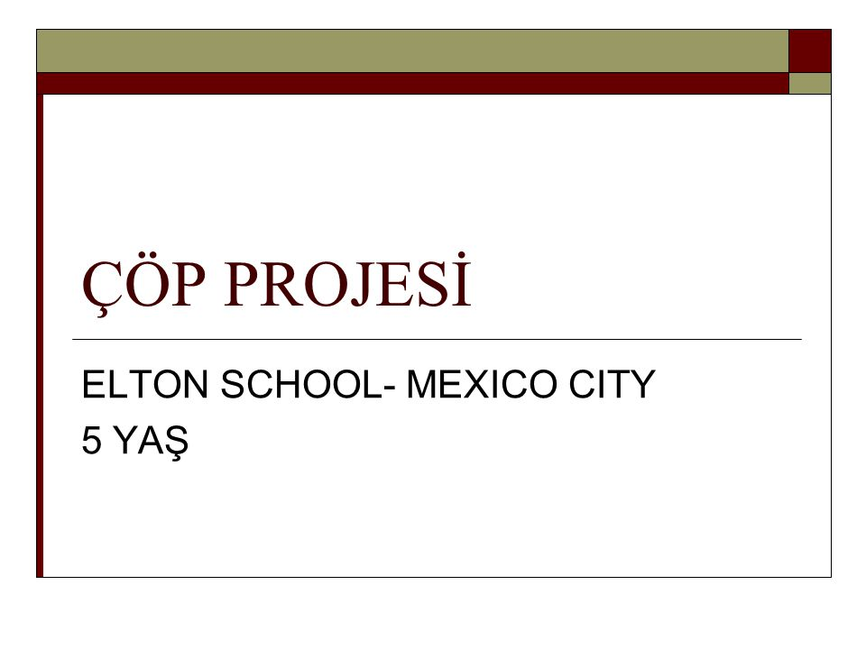 ELTON SCHOOL- MEXICO CITY 5 YAŞ