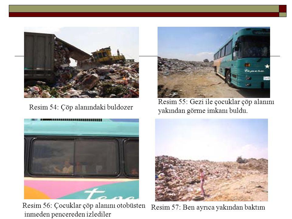 Resim 55: Gezi ile çocuklar çöp alanını