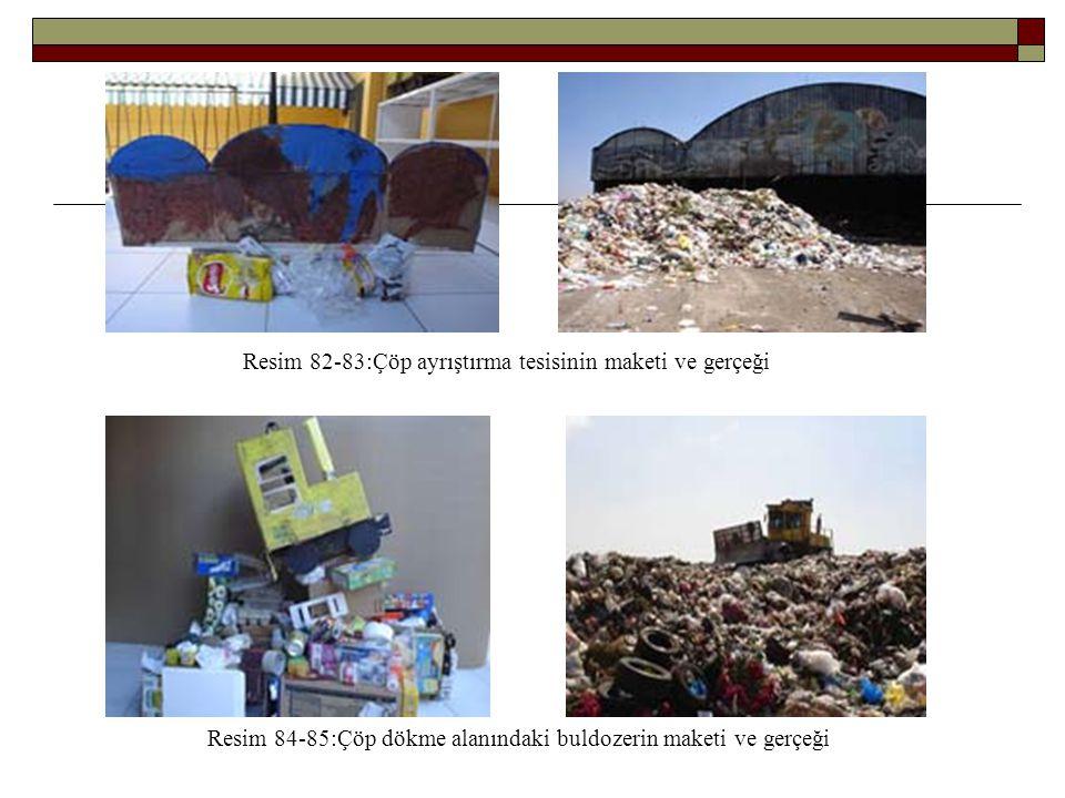 Resim 82-83:Çöp ayrıştırma tesisinin maketi ve gerçeği