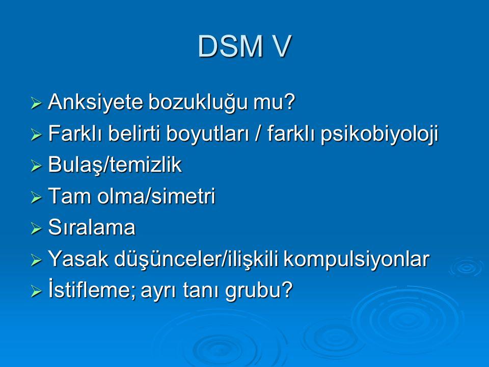 DSM V Anksiyete bozukluğu mu