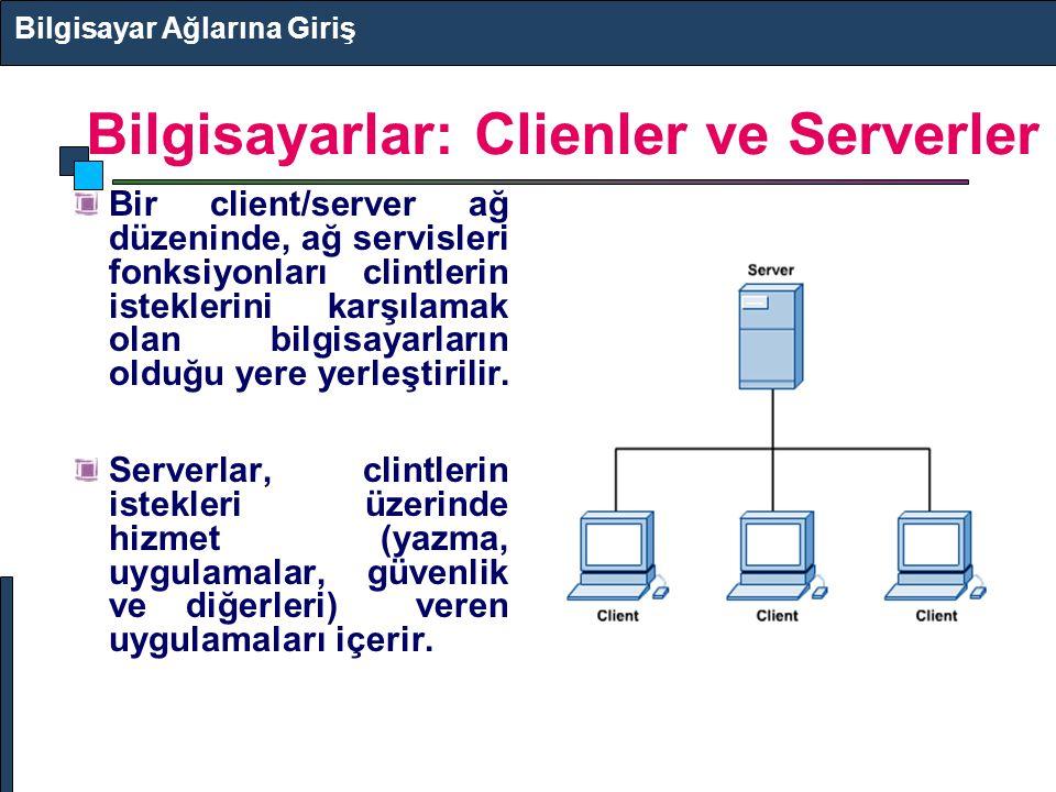 Bilgisayarlar: Clienler ve Serverler