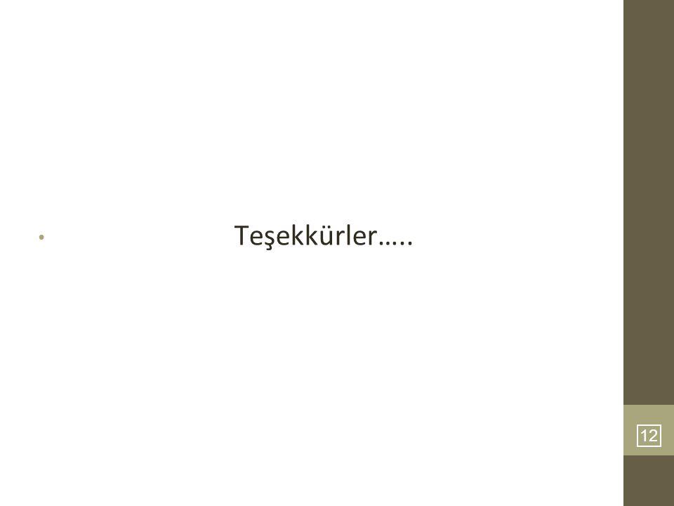 Teşekkürler….. 12