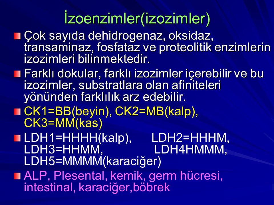 İzoenzimler(izozimler)