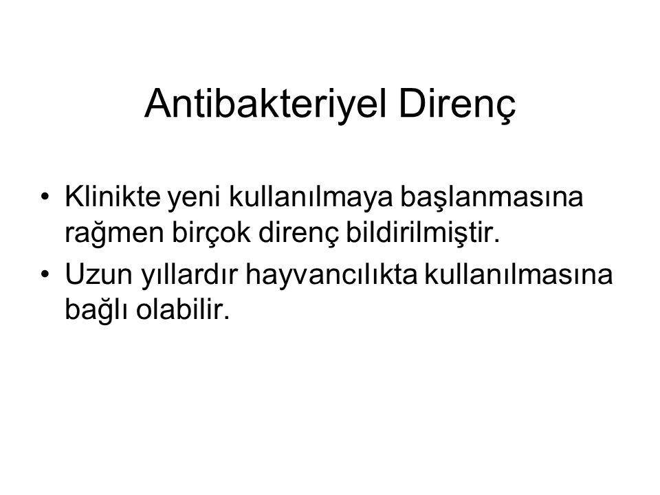 Antibakteriyel Direnç
