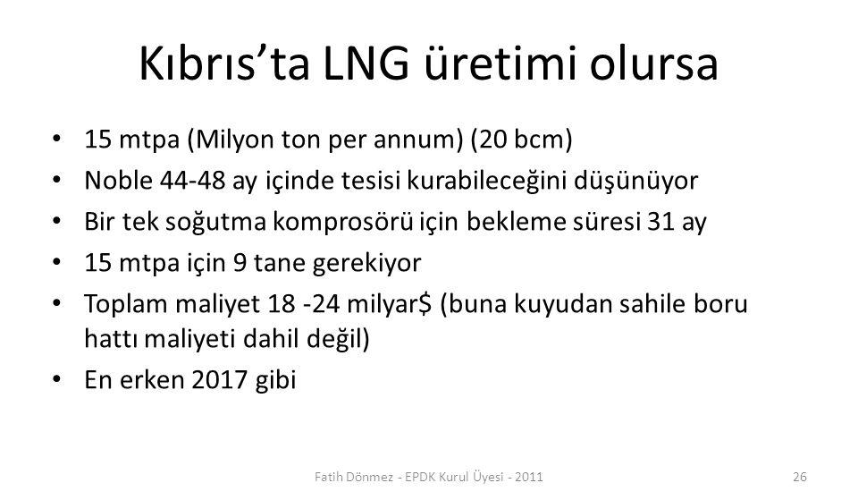 Kıbrıs'ta LNG üretimi olursa