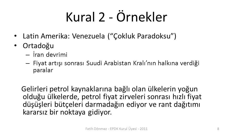 Fatih Dönmez - EPDK Kurul Üyesi - 2011