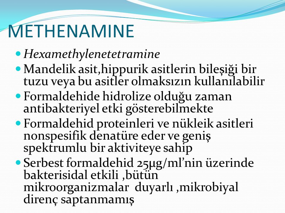 METHENAMINE Hexamethylenetetramine