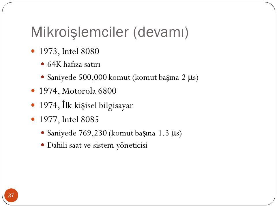 Mikroişlemciler (devamı)
