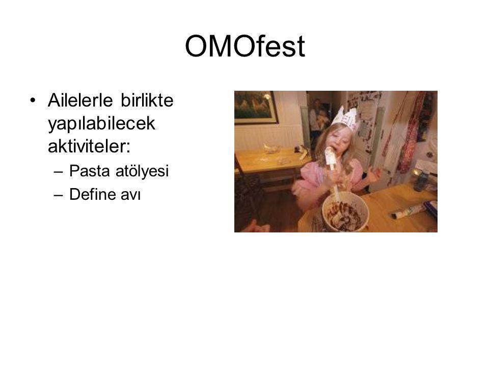 OMOfest Ailelerle birlikte yapılabilecek aktiviteler: Pasta atölyesi