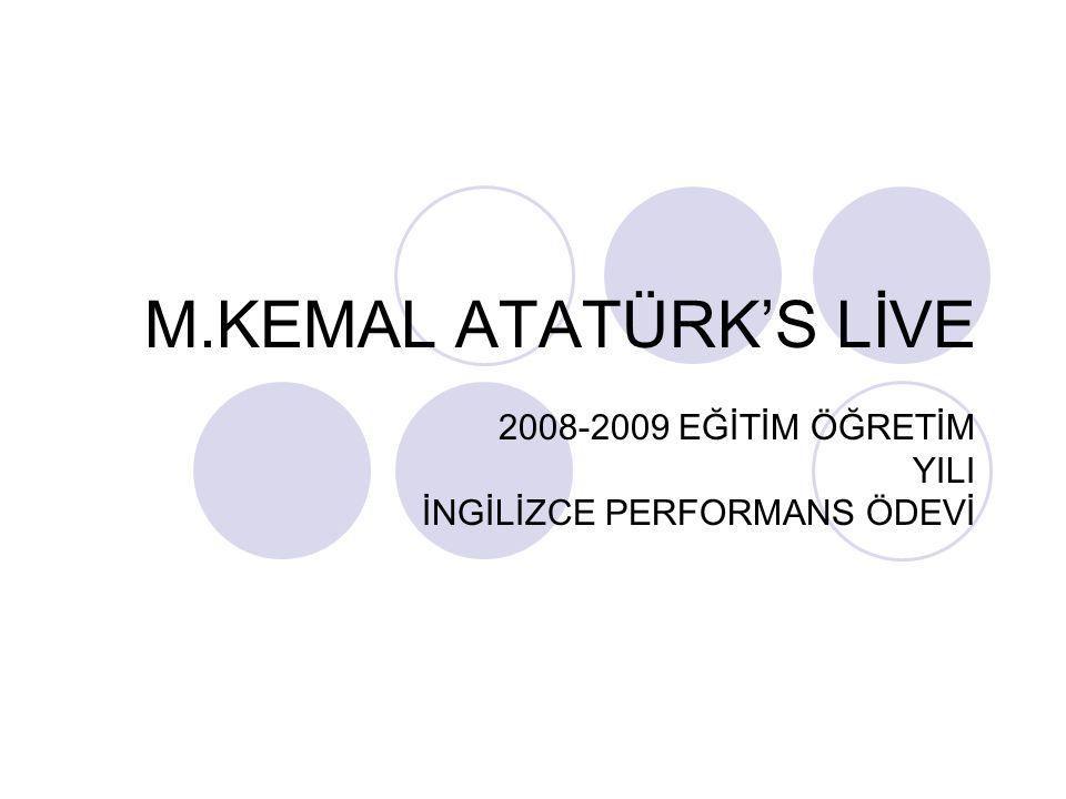2008-2009 EĞİTİM ÖĞRETİM YILI İNGİLİZCE PERFORMANS ÖDEVİ