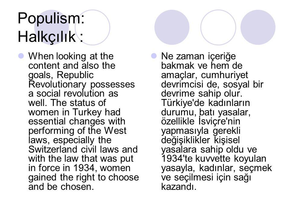 Populism: Halkçılık :