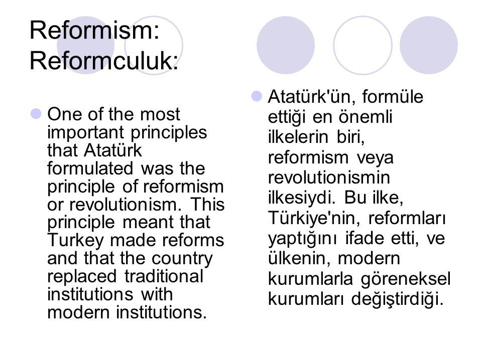 Reformism: Reformculuk: