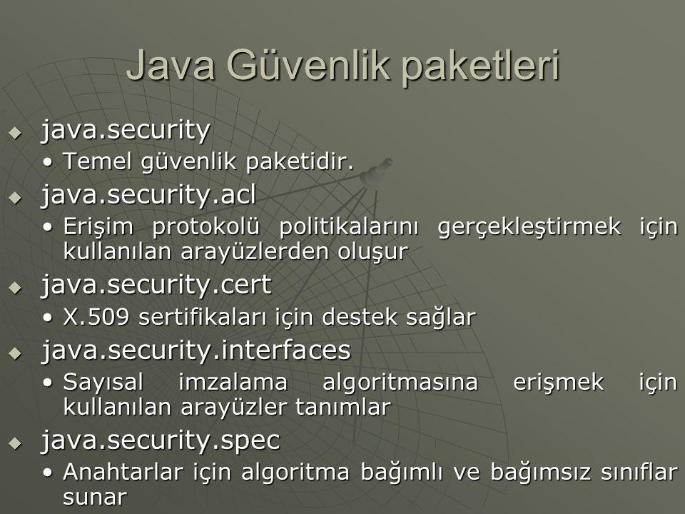 Java Güvenlik paketleri