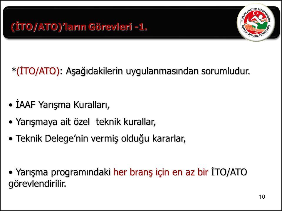 (İTO/ATO)'ların Görevleri -1.