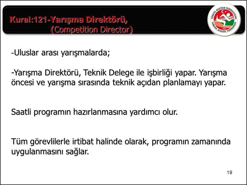 Kural:121-Yarışma Direktörü,