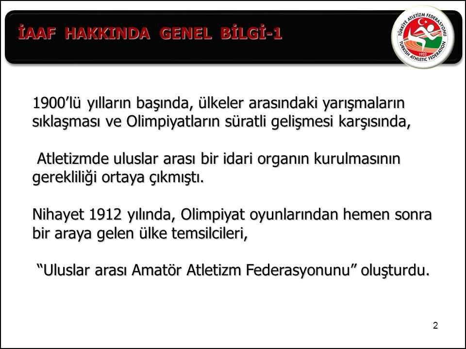 İAAF HAKKINDA GENEL BİLGİ-1