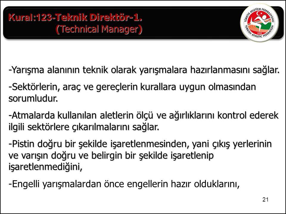 Kural:123-Teknik Direktör-1.