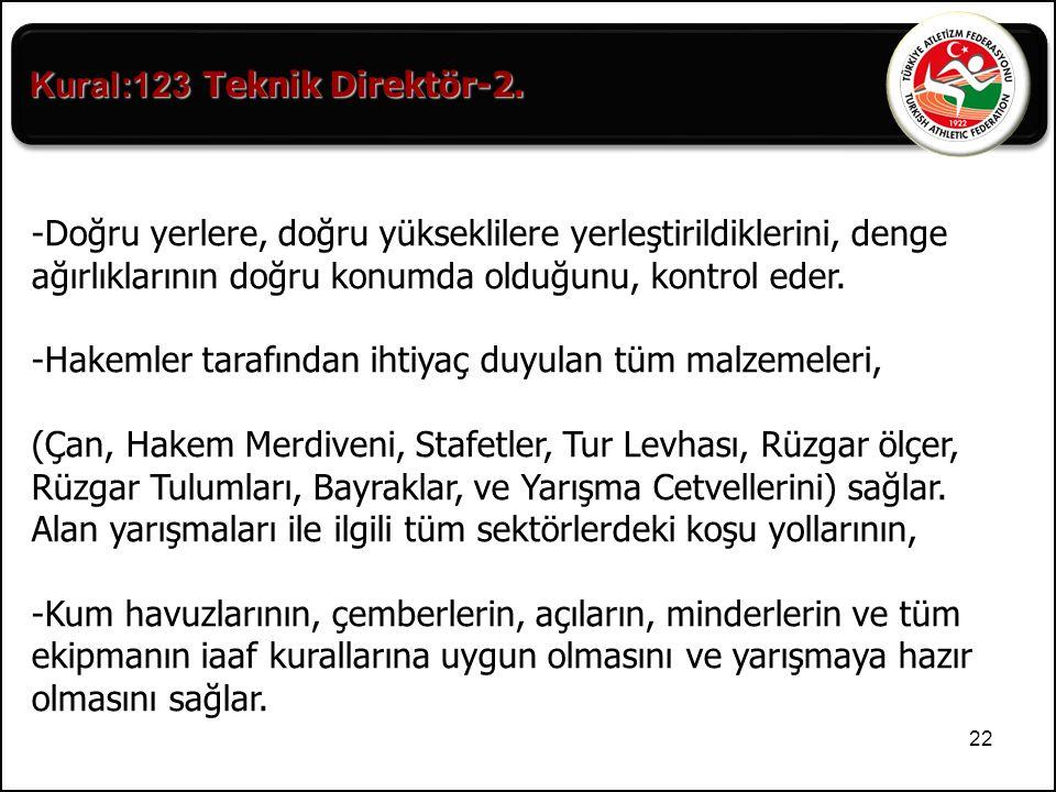 Kural:123-Teknik Direktör-2.