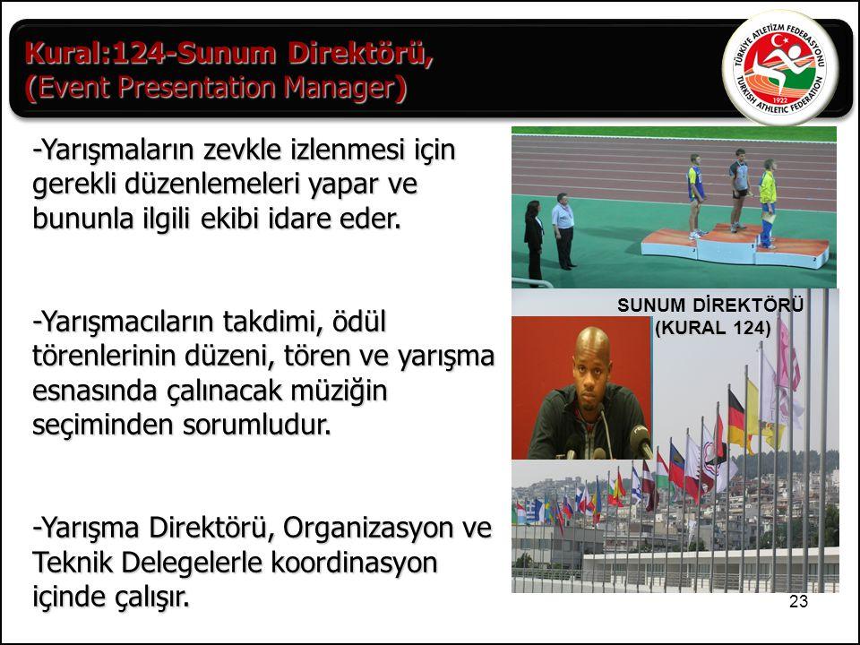 Kural:124-Sunum Direktörü, (Event Presentation Manager)