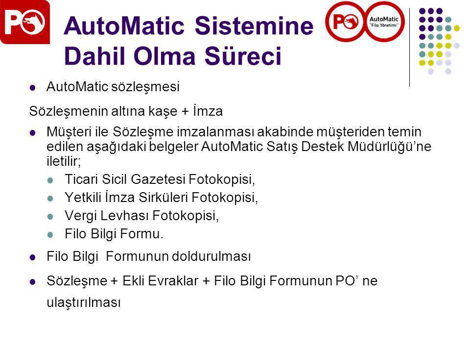 AutoMatic Sistemine Dahil Olma Süreci