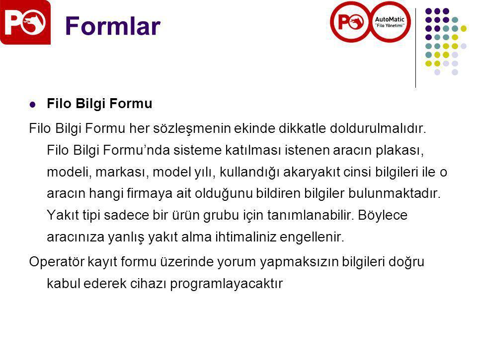 Formlar Filo Bilgi Formu