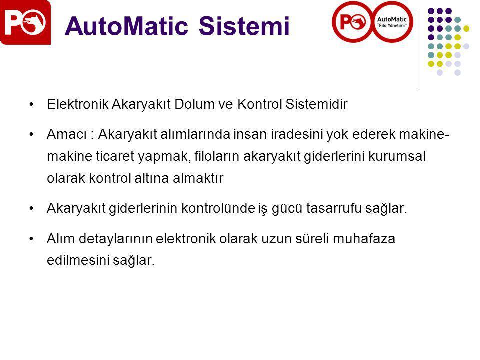 AutoMatic Sistemi Elektronik Akaryakıt Dolum ve Kontrol Sistemidir
