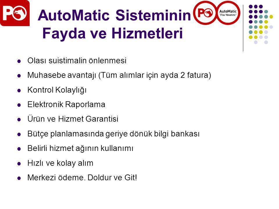 AutoMatic Sisteminin Fayda ve Hizmetleri
