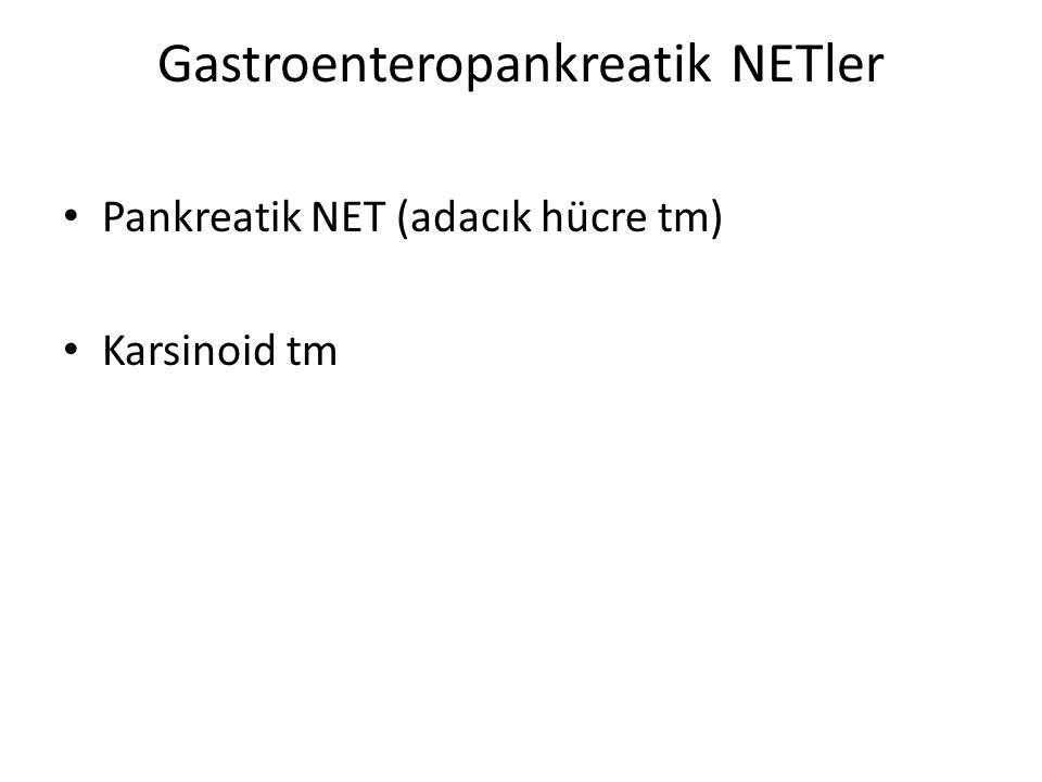 Gastroenteropankreatik NETler