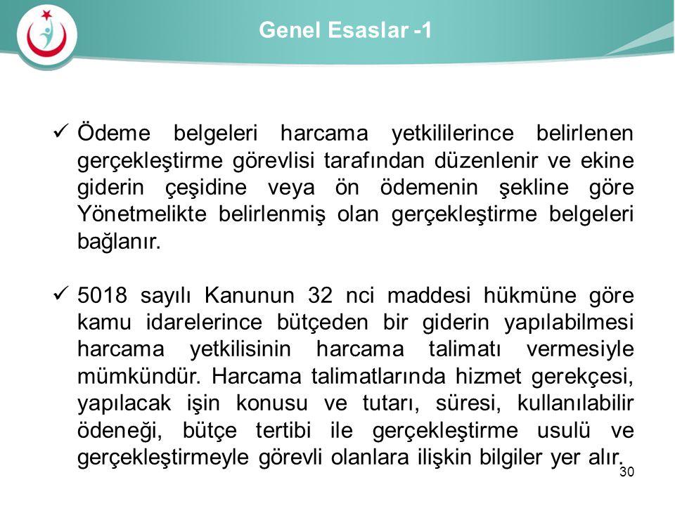 Genel Esaslar -1