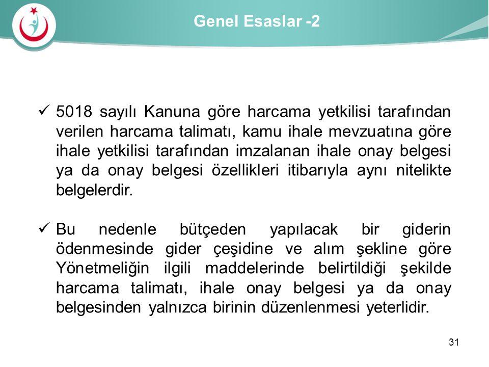 Genel Esaslar -2