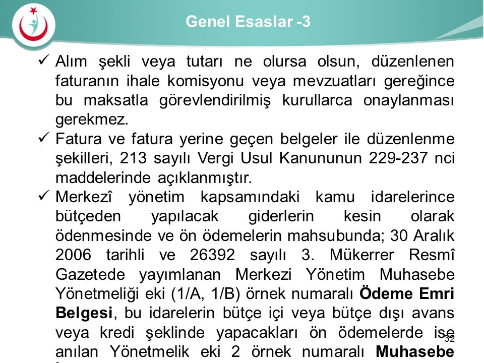 Genel Esaslar -3