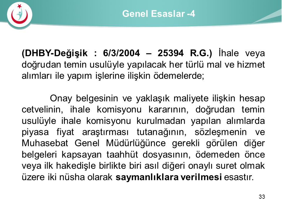 Genel Esaslar -4