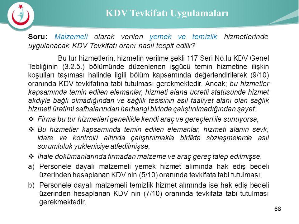 KDV Tevkifatı Uygulamaları