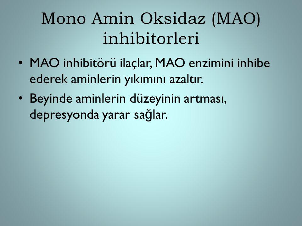 Mono Amin Oksidaz (MAO) inhibitorleri