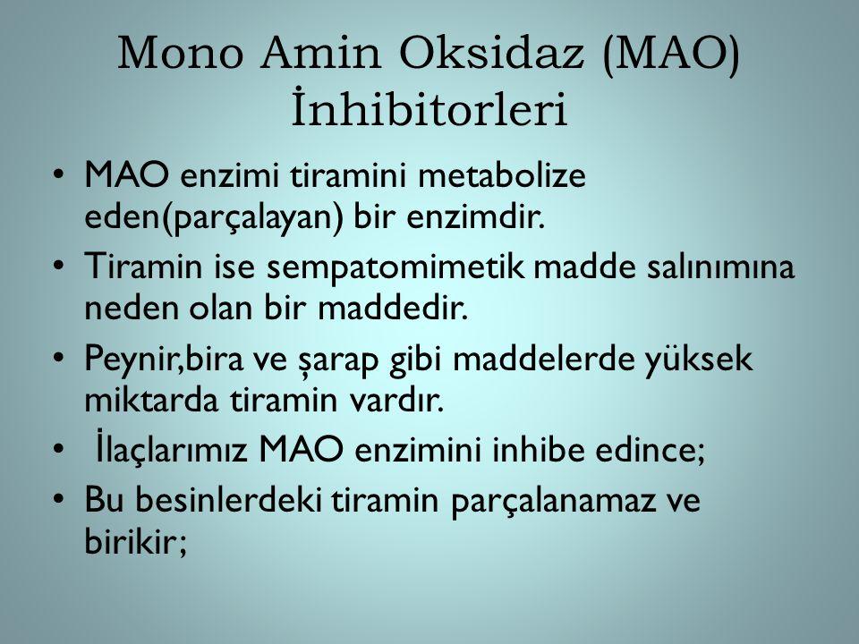 Mono Amin Oksidaz (MAO) İnhibitorleri