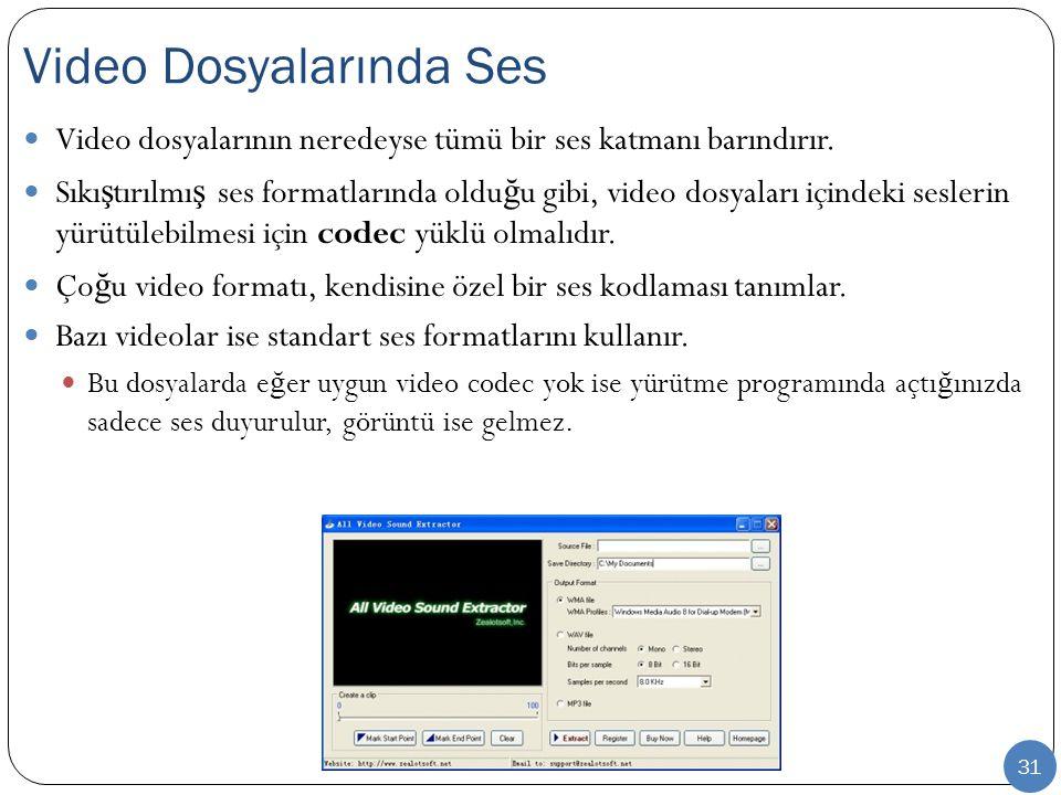 Video Dosyalarında Ses