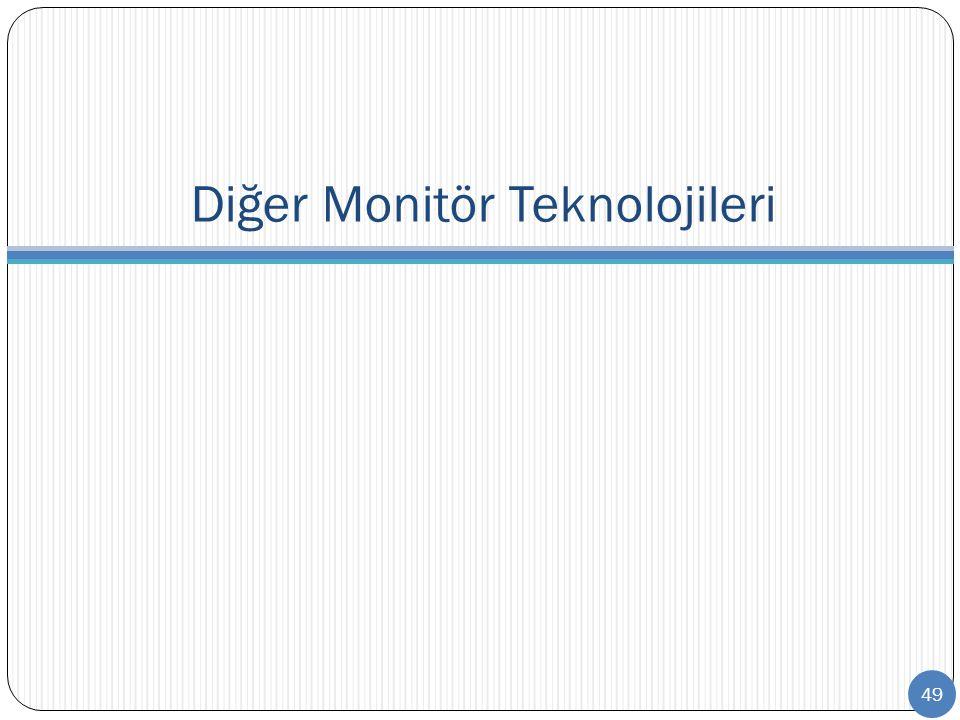 Diğer Monitör Teknolojileri