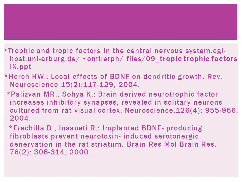 Trophic and tropic factors in the central nervous system. cgi-host