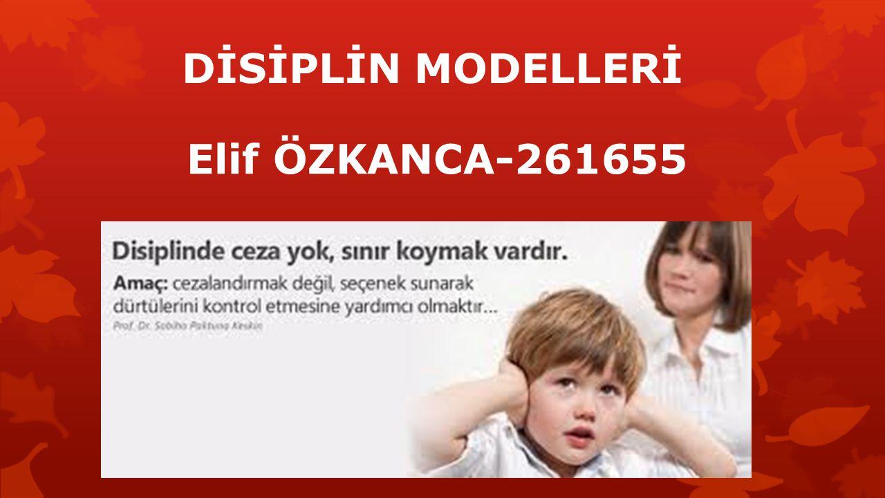 DİSİPLİN MODELLERİ Elif ÖZKANCA-261655