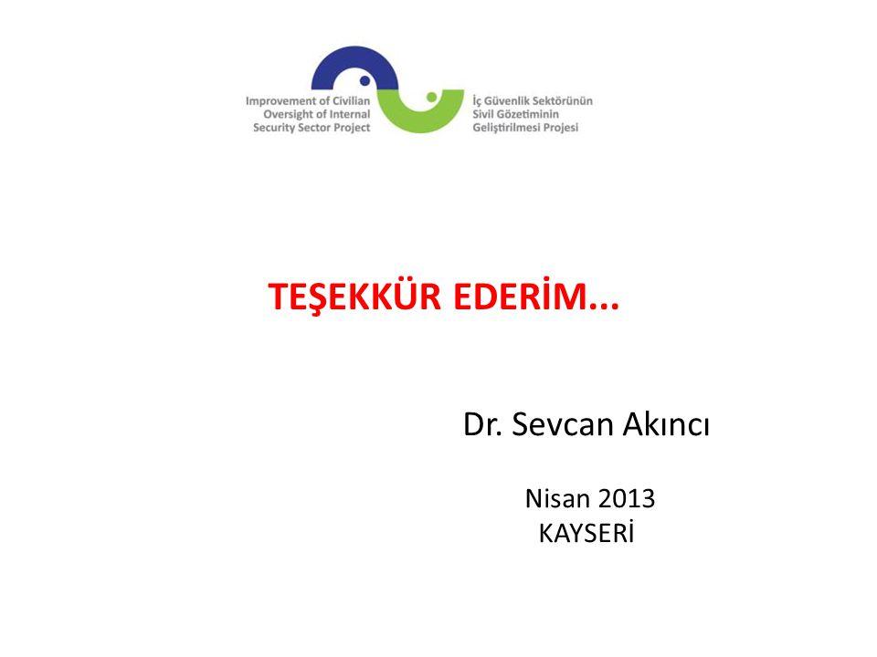 Dr. Sevcan Akıncı Nisan 2013 KAYSERİ