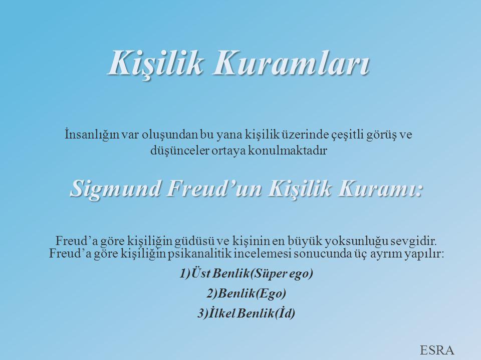 Sigmund Freud'un Kişilik Kuramı: 1)Üst Benlik(Süper ego)
